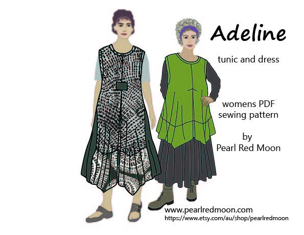 new lagenlook style PDF pattern by Pearl Red Moon on Etsy