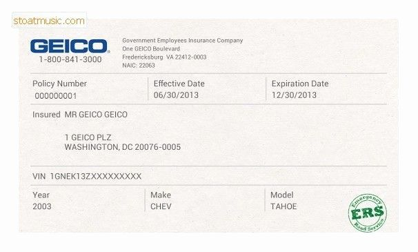 Geico Insurance Card Template Free Download Geicoinsurance Card Templates Free Card Template Birthday Card Template