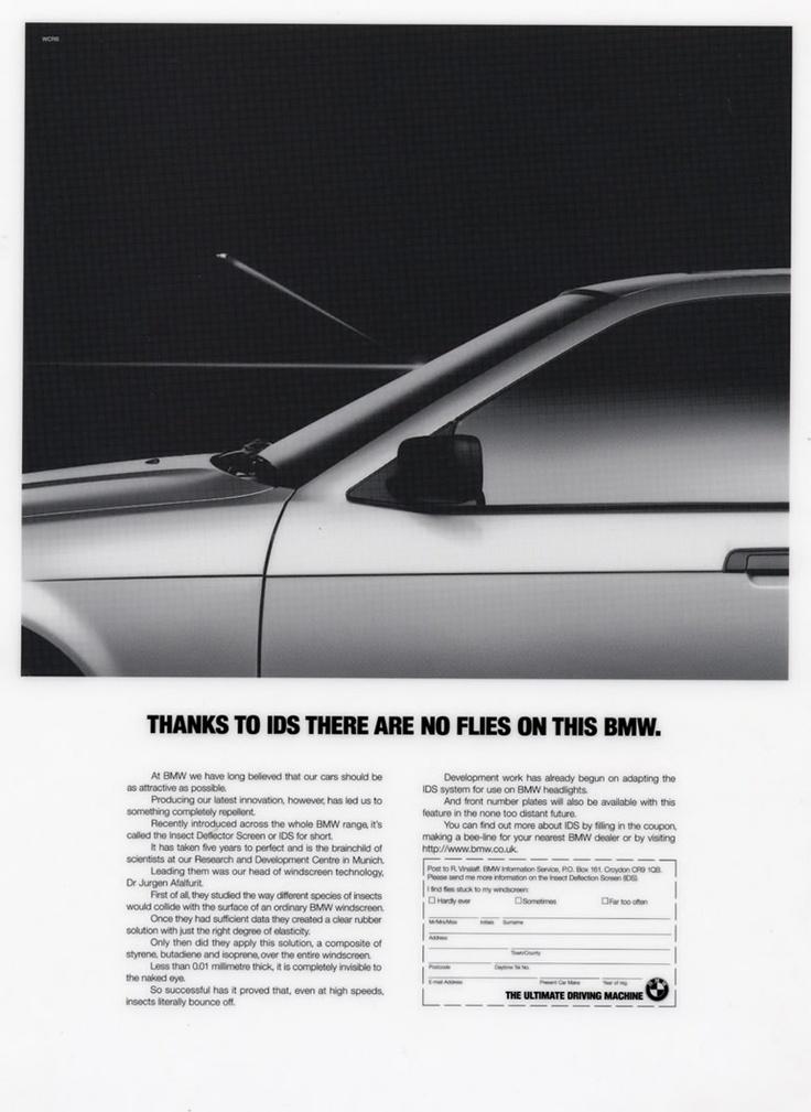BMW No Flies Advert