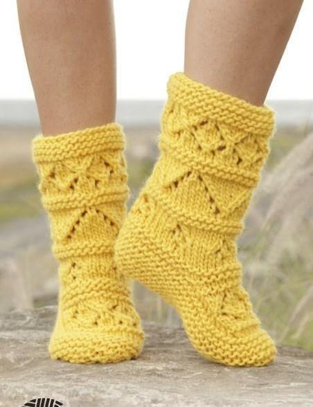 Носки лимонный твист | Клубок