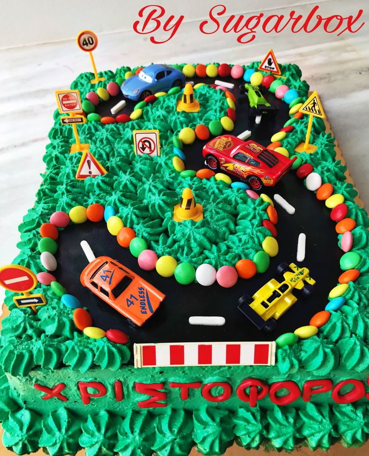 3rd Birthday Cake Car Track