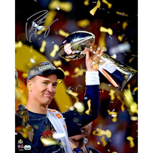 """Peyton Manning Denver Broncos Fanatics Authentic Autographed 16"""" x 20"""" Super Bowl 50 Champions Celebration Photograph - $379.99"""