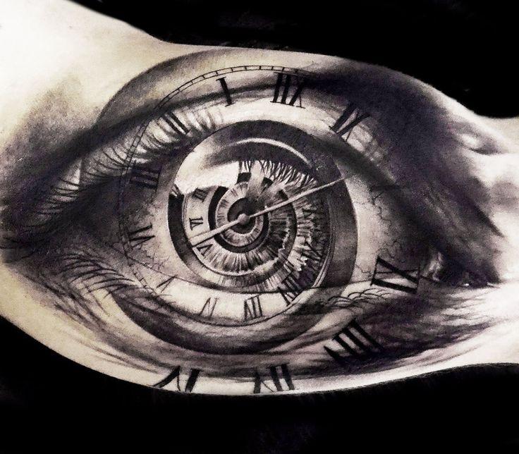 time eye tattoo by oscar akermo