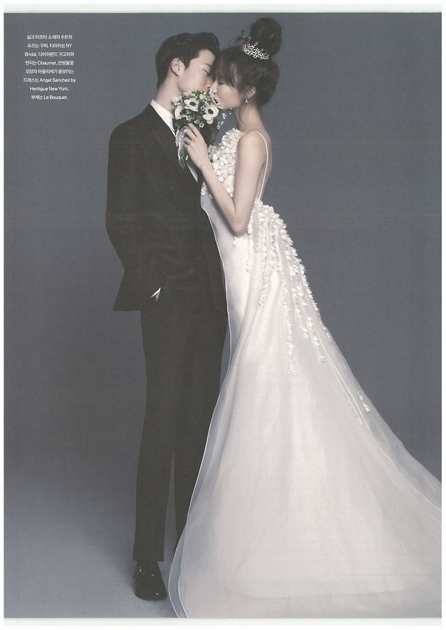 Lee Seong Kyeong and Jang Ki Yong by Ahn Joo Young for ELLE Bride Korea