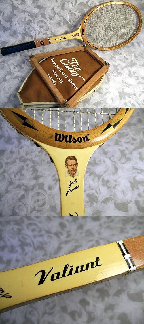 Sold Vintage WILSON Jack Kramer VALIANT Wooden Tennis Racket