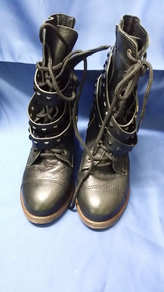 BLAHNIK BLACK ANKLE BOOTS SIZE APPROX 7.5  8 AU **CHARITY AUCTION**