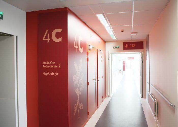 Signalétique du centre hospitalier - Identification