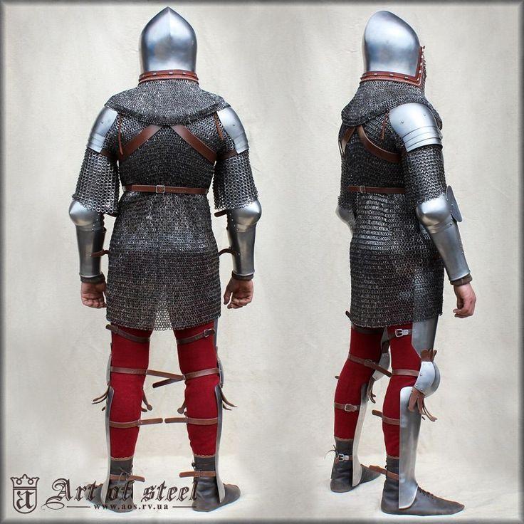 Aluminum Ermaksan Working Mexico: Armadura Completa De Caballería 1340-1440 (reconstrucción