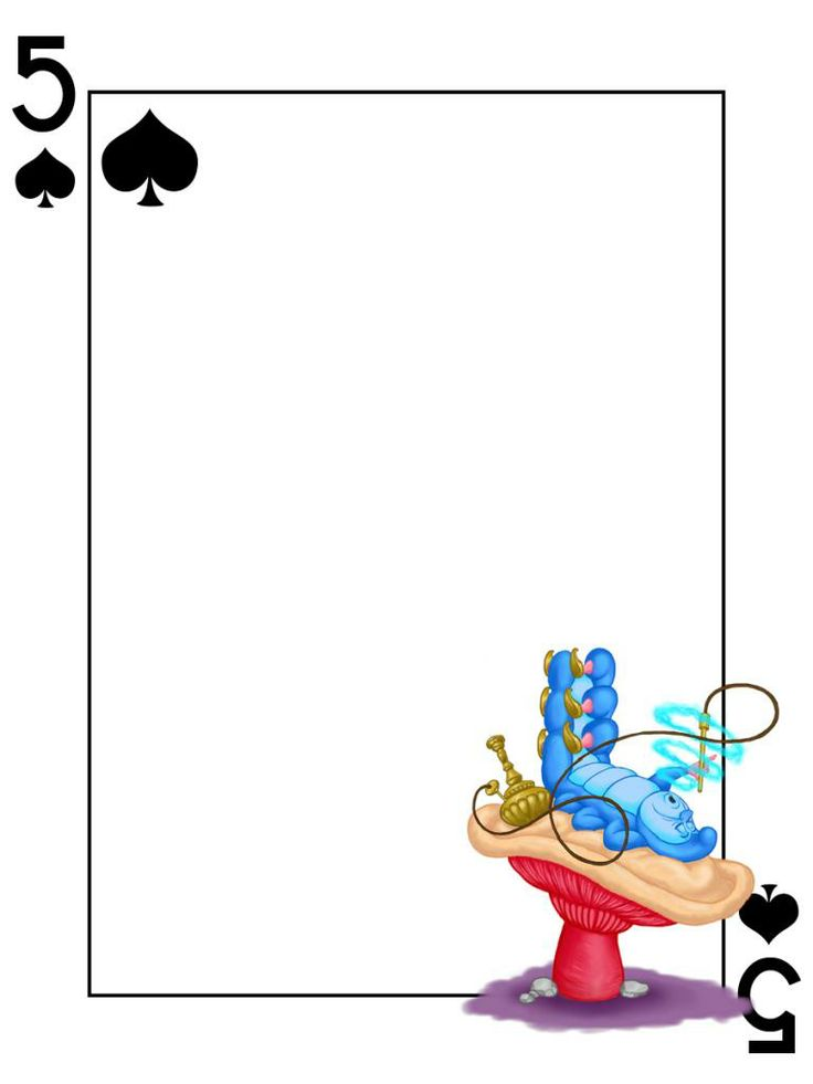 """Caterpillar - 5 of Spades - Alice in Wonderland  - Playing Card - Project Life Journal Card - Scrapbooking ~~~~~~~~~ Size: 3x4"""" @ 300 dpi. This card is **Personal use only - NOT for sale/resale** Logo/clipart belongs to Disney. Font is Card Characters http://haroldsfonts.com/portfolio/card-characters/ *** Click through to photobucket for more versions of this card ***"""