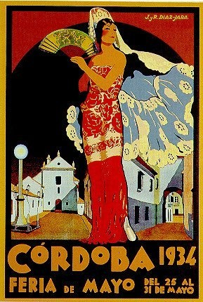 Vintage Córdoba Travel Poster