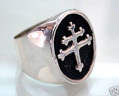 Men's Ring. Cross.  Cross Of Lorraine Magnum PI Team Ring.
