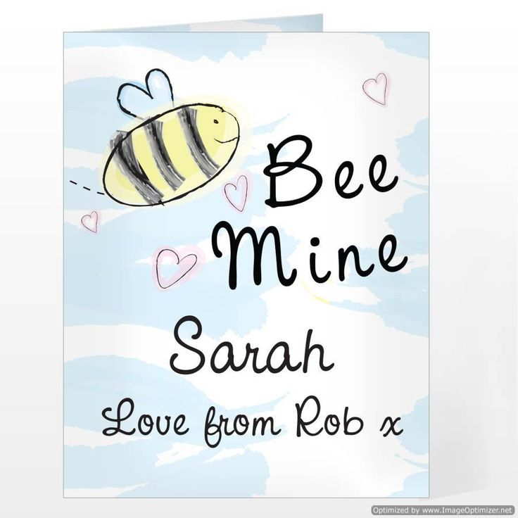 Personal Touch Gifts - Bee Mine Card, £2.49 (http://personaltouchgifts.co.uk/bee-mine-card/)
