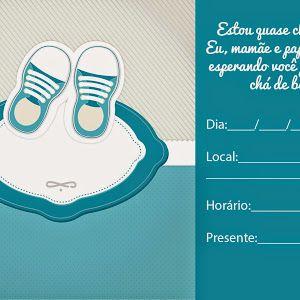 Convites para chá de bebê, editáveis para imprimir - Cantinho do blog Layouts e Templates para Blogger