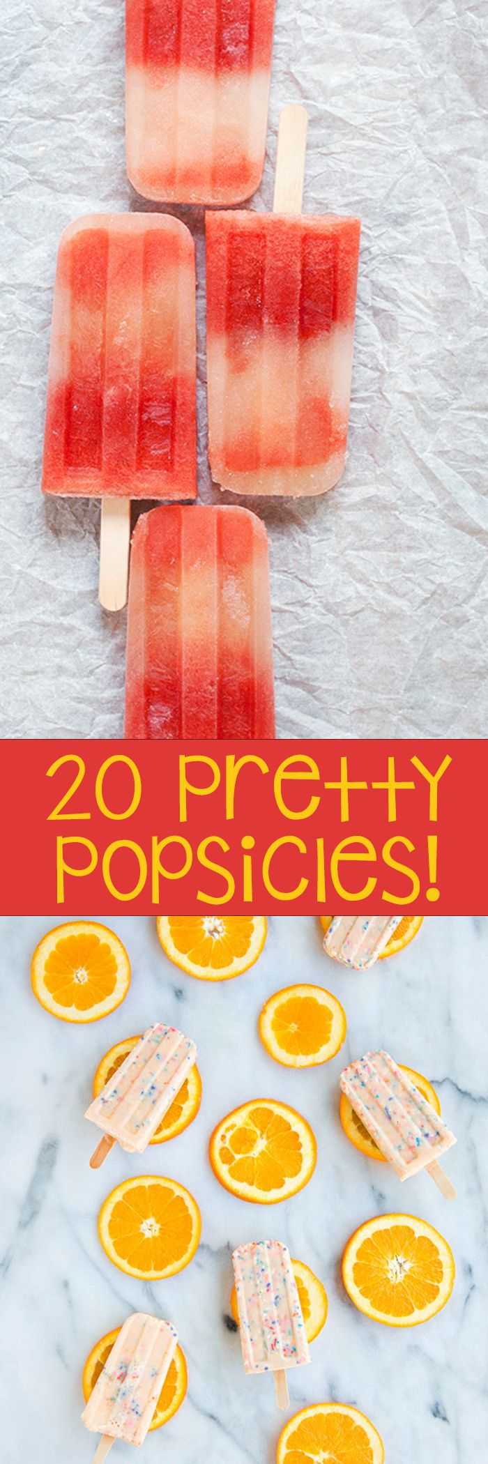 20 pretty popcicle recipes -- pin to try this summer!!