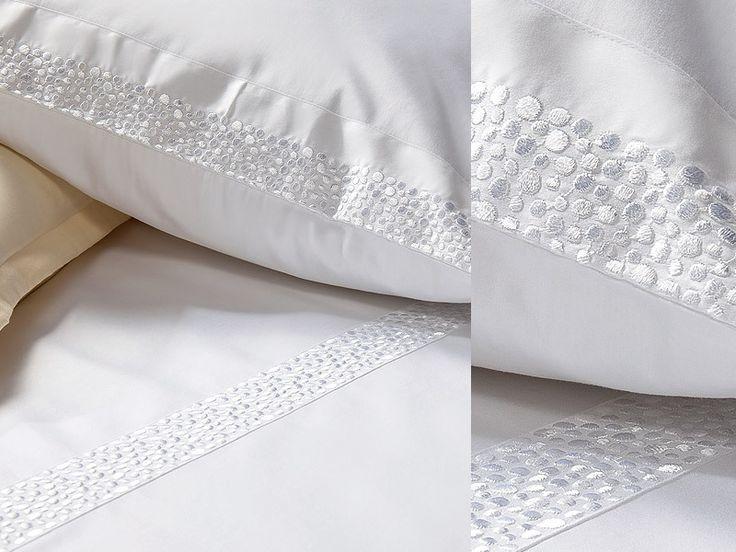 Fleuresse Romantik Mako Satin Bettwäsche mit Stickerei Farbe 1000 weiss