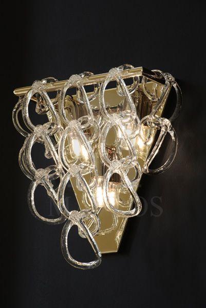 ΜΑΥΡΟΣ -- Murano wall lamp | GANCI