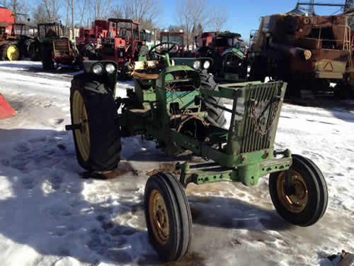 John Deere 2010 tractor salvaged for used parts. This unit is available at All States Ag Parts in Hendricks, MN. Call 877-530-6620 parts. Unit ID#: EQ-23596. The photo depicts the equipment in the condition it arrived at our salvage yard. Parts shown may or may not still be available. http://www.TractorPartsASAP.com