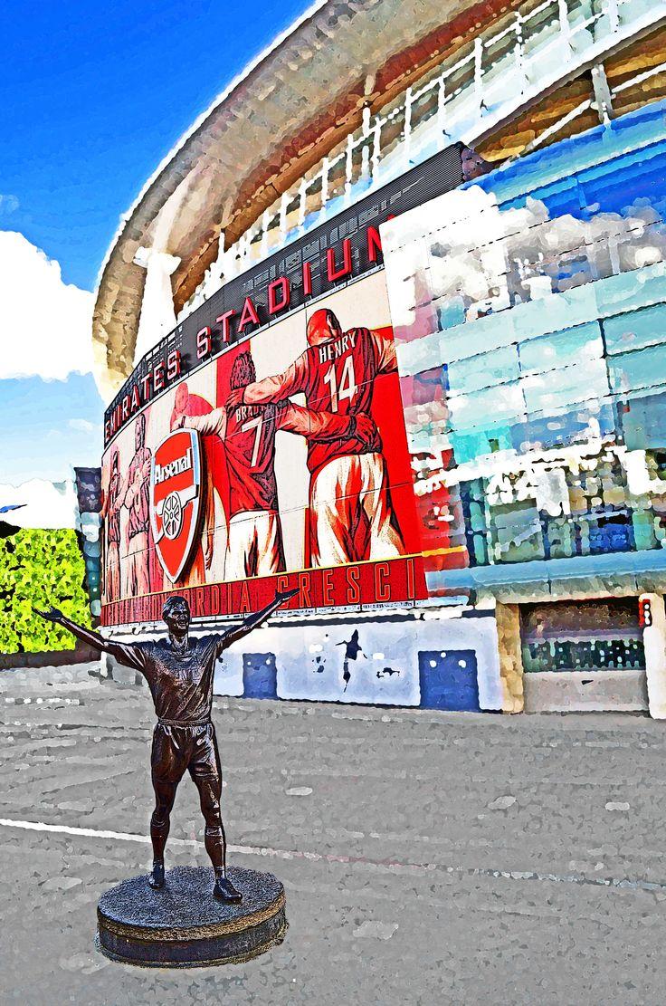 Statue of Tony Adams, Emirates Stadium, London; home of Arsenal FC