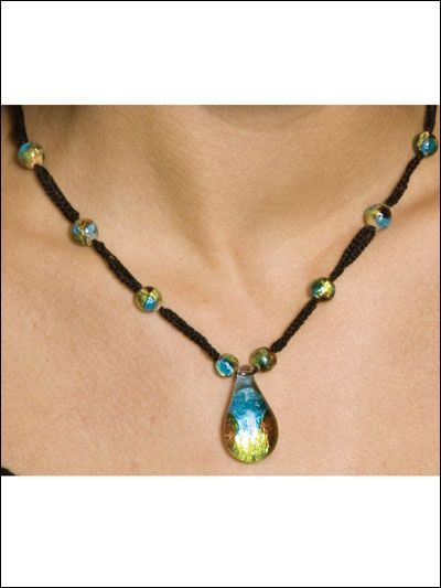 FREE instructions for crochet and beads necklace!