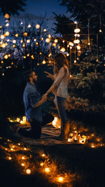 Terence ''among the lights and having the night as witness, will you marry me Prue?'' Prue ''Terence you are the most romantic man that I know and will ever know, I will, yes I will be your wife''.
