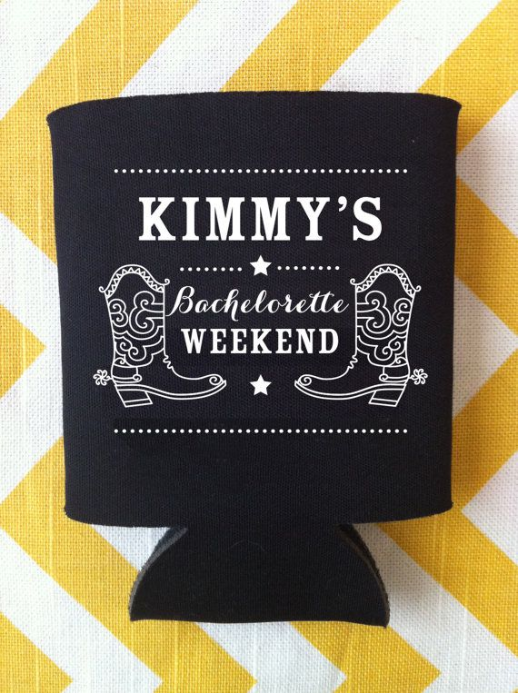 Country Theme Bachelorette Party Koozies  12 qty. by RookDesignCo, $79.00