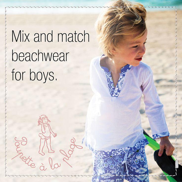 Mix and match beachwear for boys. #beachwear #swimwear #vintage #beautiful www.poupettealaplage.com/en/boys