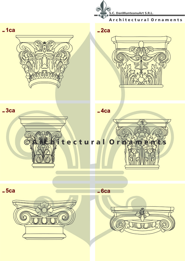 Capital models-- drawings made by Architectural Ornaments
