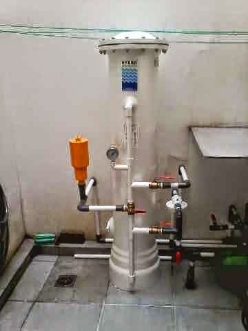 Filter Penyaring Air Sumur, Bor, dan Tanah terpasang untuk menjernihkan air dirumah anda
