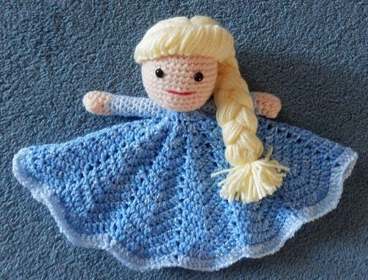 Made to Order Lovey Baby Blanket Doll Hand Crocheted Like ...