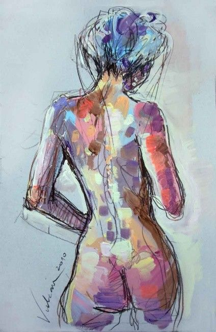 MARIE 3 - Painting ©2010 by Raluca Vulcan -