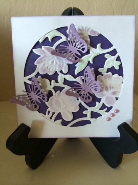 Faux laser cut - my first attempt at this :) For the following challenges: Creative Inspirations - A trio of .... (http://cinspirations.blogspot.co.uk/); Simon Says Spring Flowers (http://www.simonsaysstampblog.com/wednesdaychallenge/) and Virginia's View Challenge - Layers and Dimensions (http://virginiasviewchallenge.blogspot.ca/2015/04/virginias-view-challenge-14.html)