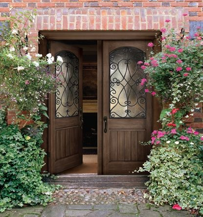 I love doors. I think they give a house its own personality. (yes & 21 best Front house images on Pinterest | Front doors Door ideas ... Pezcame.Com