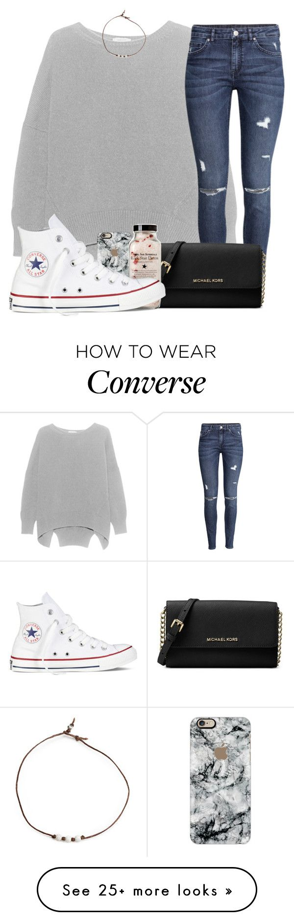 """""""weekly updatee!! woohoo!! (read d)"""" by madiweeksss on Polyvore featuring H&M, Casetify, Michael Kors and Converse"""