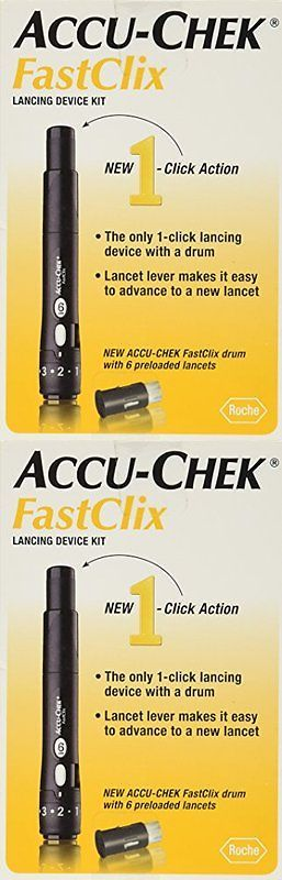 Lancets: Accu-Chek Fastclix Lancing Device Kit 1 Ea(Pack Of 5)And Save! BUY IT NOW ONLY: $64.59