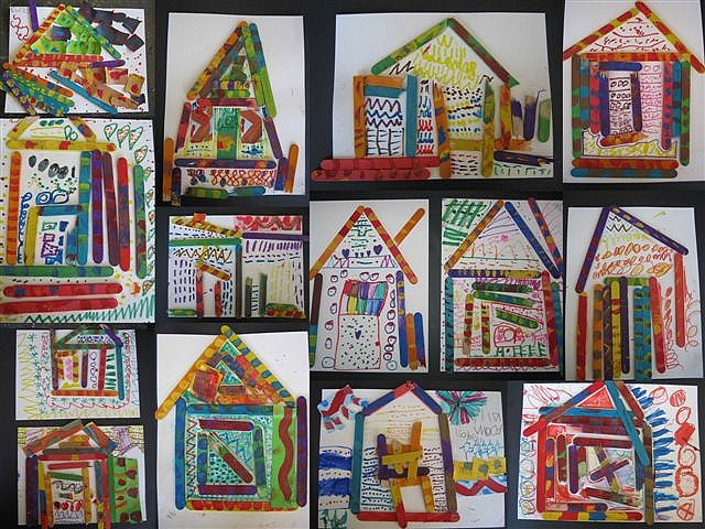 ndebele african houses  ~  we did these in KN~ 1st grade classes last week... they are awesome!! ~ g.
