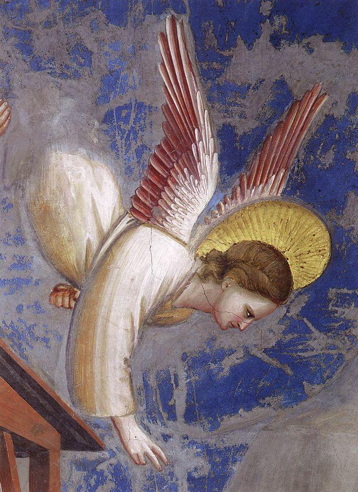 angel03.jpg (1000×1377)GIOTTO di Bondone No. 17 Scenes from the Life of Christ: 1. Nativity: Birth of Christ (detail) 1304-06 Fresco Cappella Scrovegni (Arena Chapel), Padua