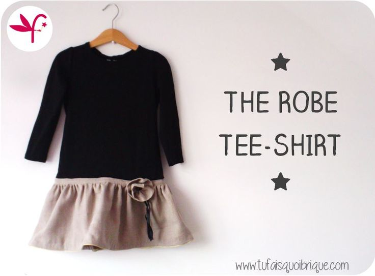 Robe Tee-shirt d'Automne très simple et rapide à réaliser. Ce tuto conviendra autant aux débutantes qu'aux mamans pressées. 2 versions sont proposées pour s'inspirer et se lancer!