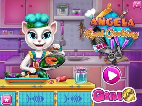 Angela Real Cooking - Talking Tom Game Tutorial 2016