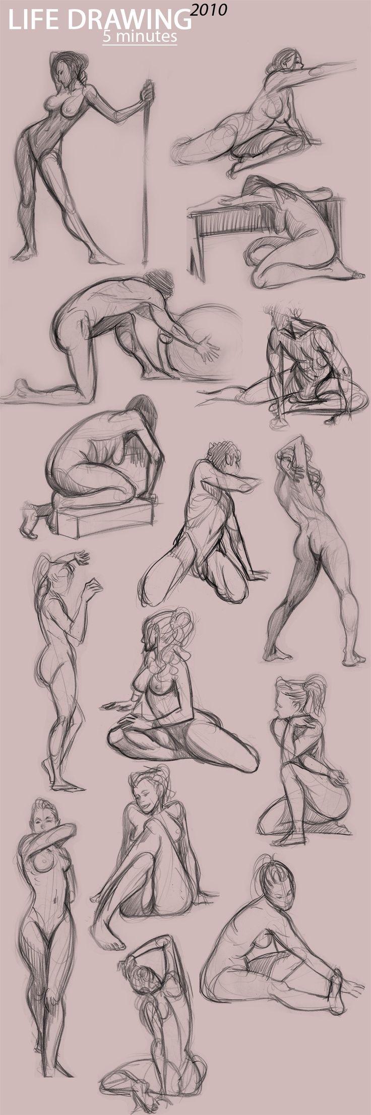 how to draw aprenda  a desenhar corpos em movimento
