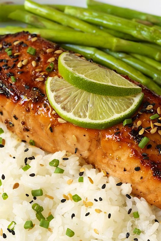 This Honey Bourbon Glazed Salmon is deliciously company worthy, yet everyday easy! The sweet, sticky, spicy, gingery glaze/drizzling sauce is unbelievable!