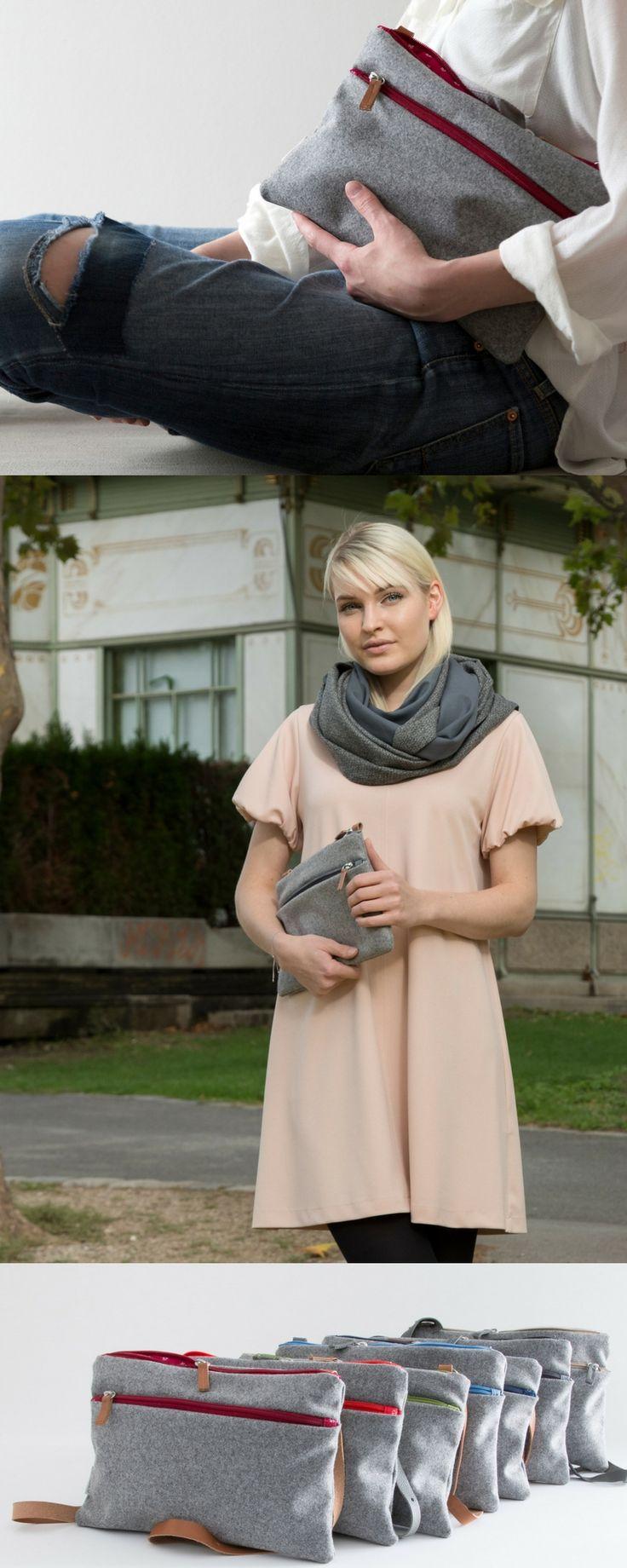 Diese Clutch ist die perfekte kleine Handtasche für alle Situationen: Party, Business,Freizeit und zum Casual-Look. Sie wurde aus weichem Loden in Österreich produziert. 100% Merinowolle.