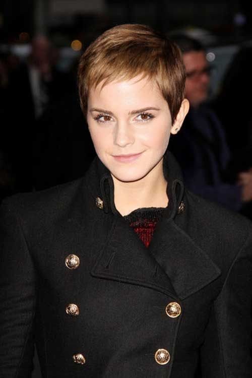Emma Watson Pixie Straight Hair