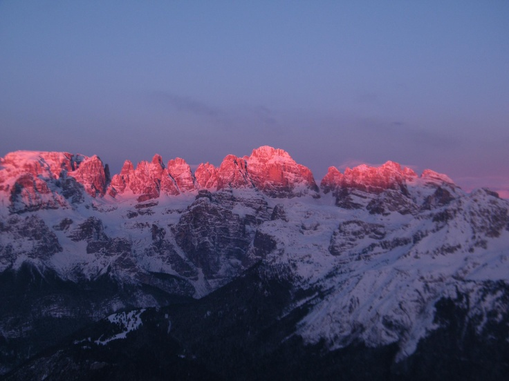 Sunrise on the Dolomiti di Brenta - World Human Heritage; point of view from the top of Paganella.