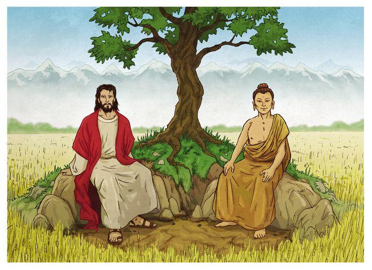 Jesus and Buddha by xilrion.deviantart.com on @deviantART