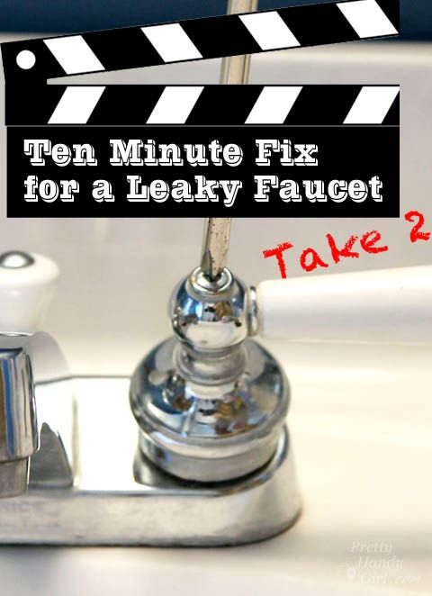 Today's tutorial should also take 10 minutes or less (minus the trip to pick up the parts) and should definitely fix that leaky faucet. Replacing the stems is just as easy.