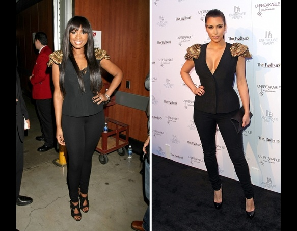 Jennifer Hudson and Kim Kardashian