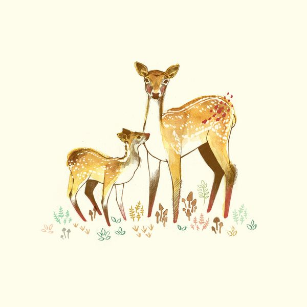 Doe and fawn tattoo | Tattoos | Pinterest | Fawn tattoo ...