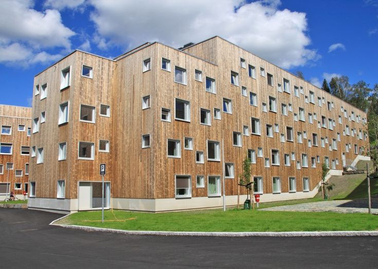 Henning Larsen Architects and SGB designed the student housing named SOPP enveloped in sustainable Kebony softwood.