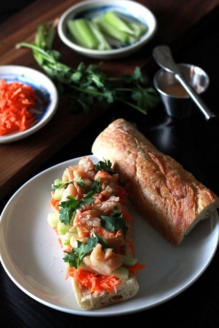 vietnamese shrimp banh mi | From PerpetuallyChic.com | Pinterest