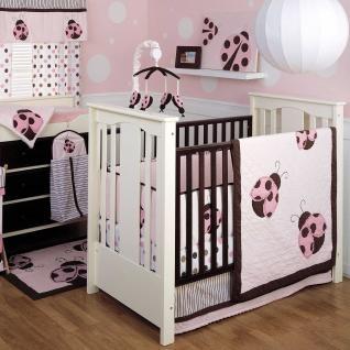 Cute pink and brown ladybug bedroom